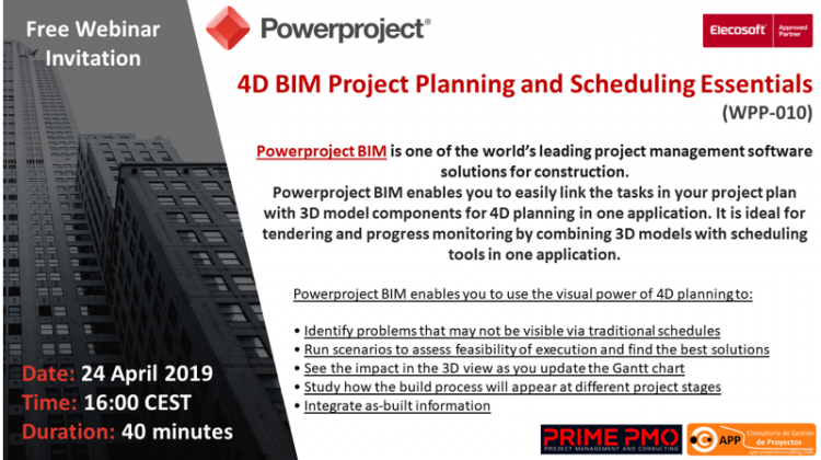 Powerproject BIM enables you to easily link the tasks in your project plan with 3D model components for 4D planning in one application.