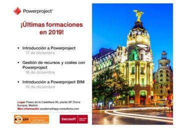 ¡Últimas formaciones en 2019 en MADRID!