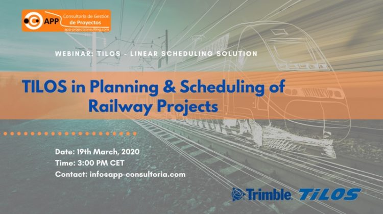 Take part in our webinar on TILOS in Planning & Scheduling of Railway Projects on 19th March 2020 at 3:00 PM CET!