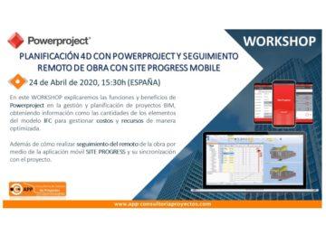 Planificación 4D y Seguimiento remoto en obra a través de Powerproject y Site Progress Mobile