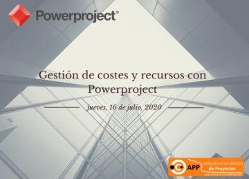 Gestión de Costes y Recursos con Powerproject