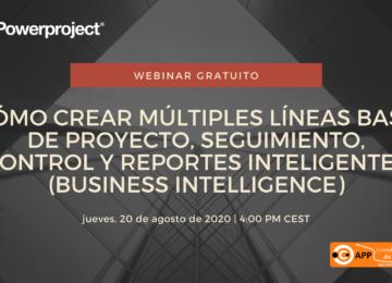 Cómo crear múltiples líneas base de proyecto, seguimiento, control y reportes inteligentes (Business Intelligence)