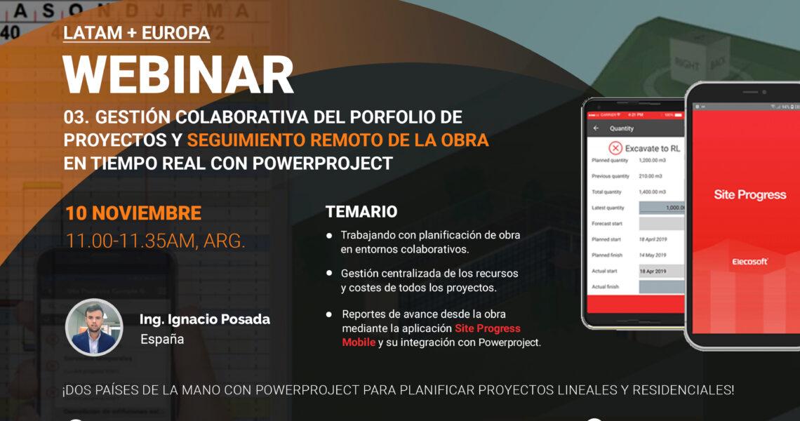 Gestión colaborativa del porfolio de proyectos y seguimiento remoto de la obra en tiempo real con Powerproject