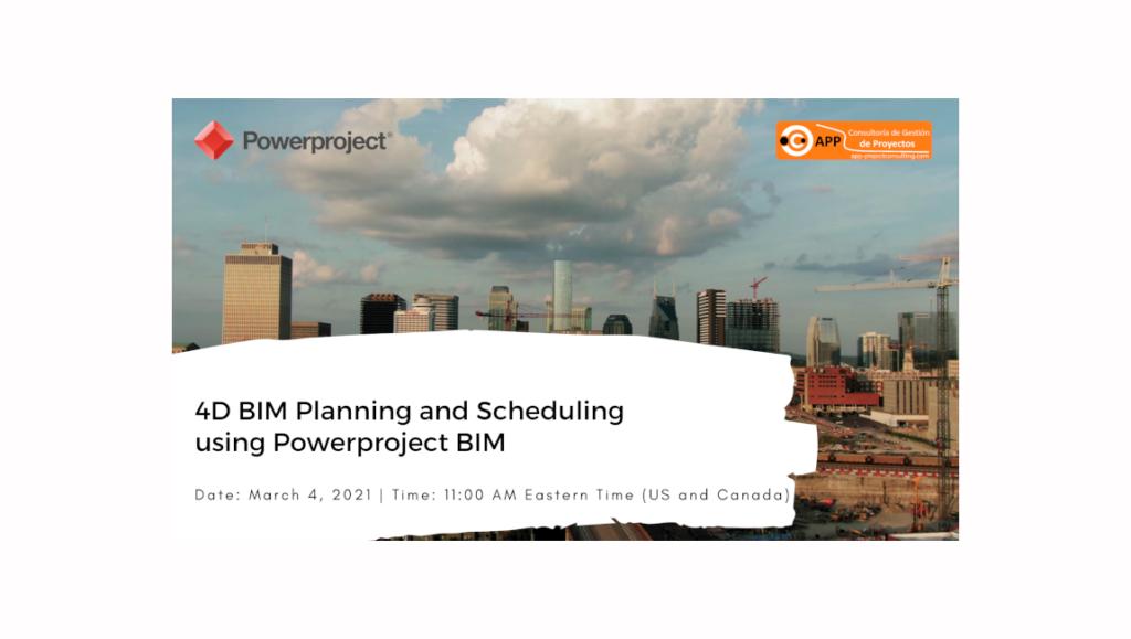 4D BIM Planning and Scheduling using Powerproject BIM