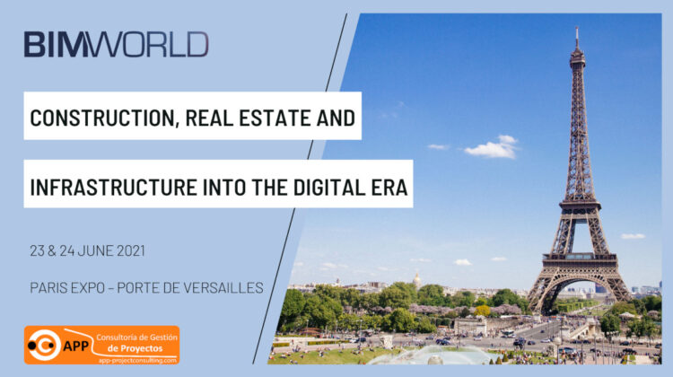 We are pleased to announce our participation to BIM WORLD exhibition that will take place in Paris Expo Porte de Versailles on June 23 and 24, 2021.