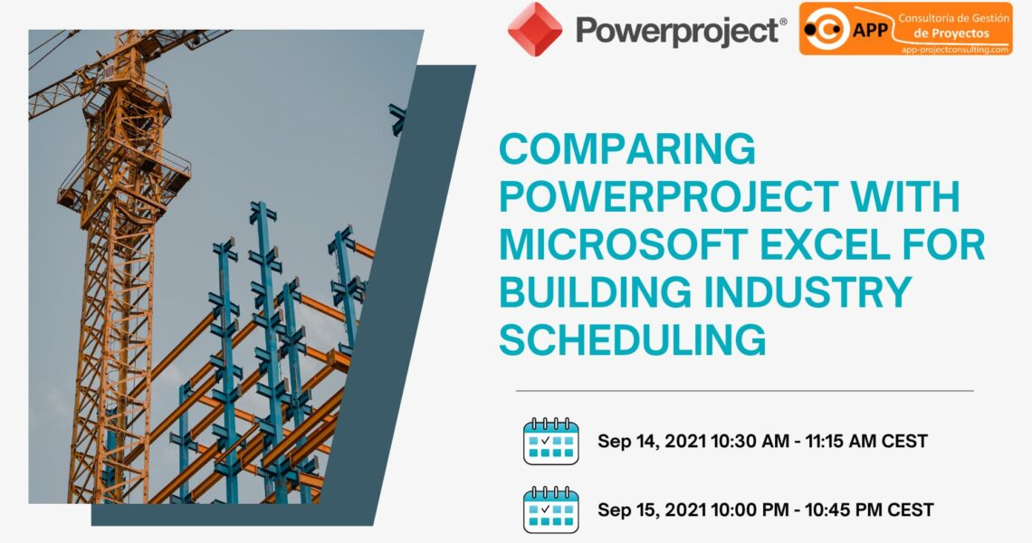 Comparing Powerproject with Microsoft Excel for building industry scheduling
